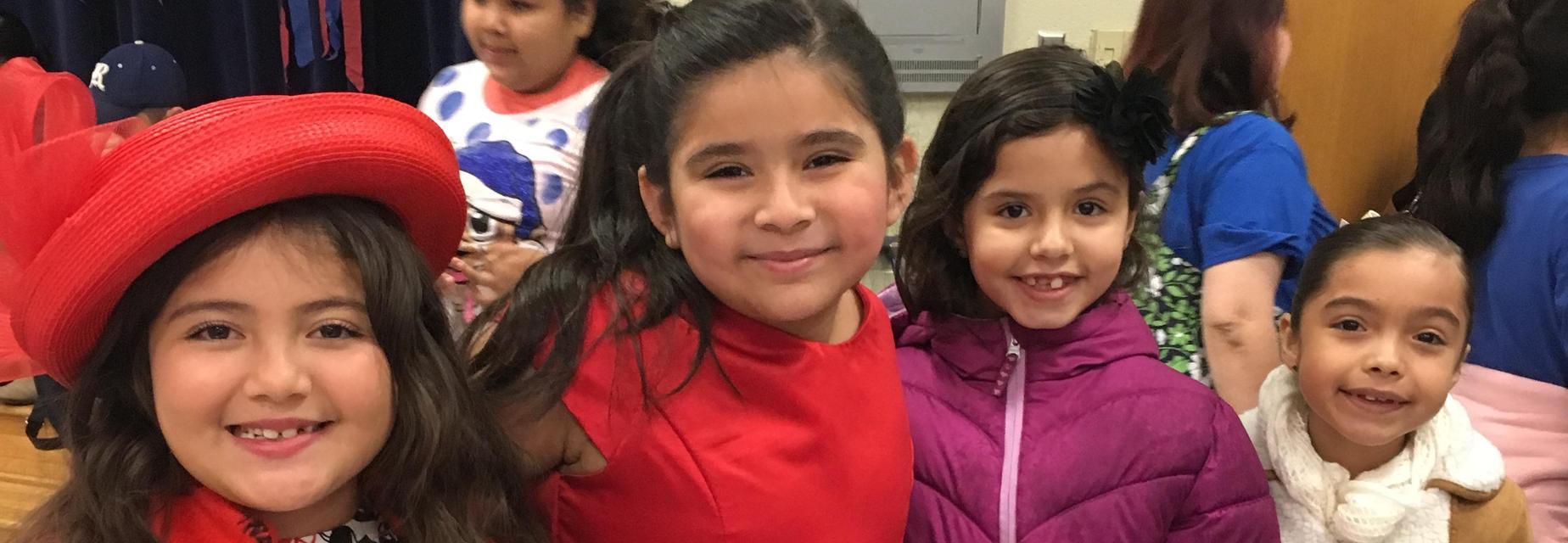 Spanish Oral Reader girls smiling