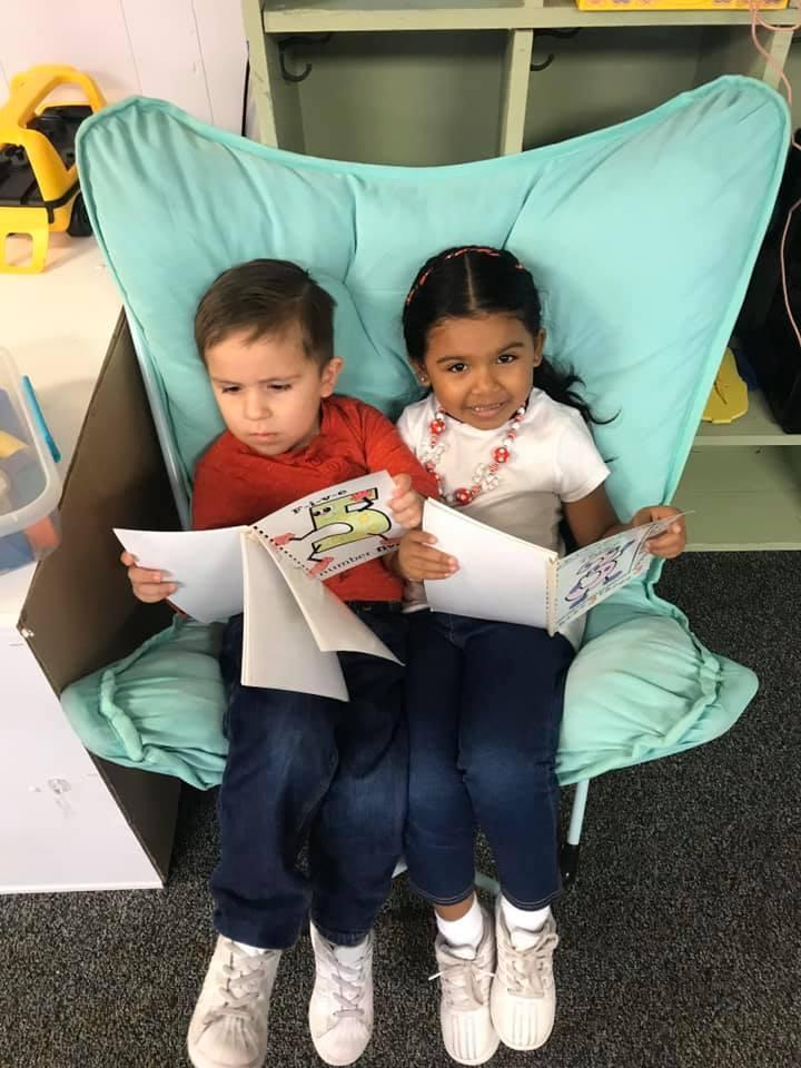 Early Childhood Students Reading