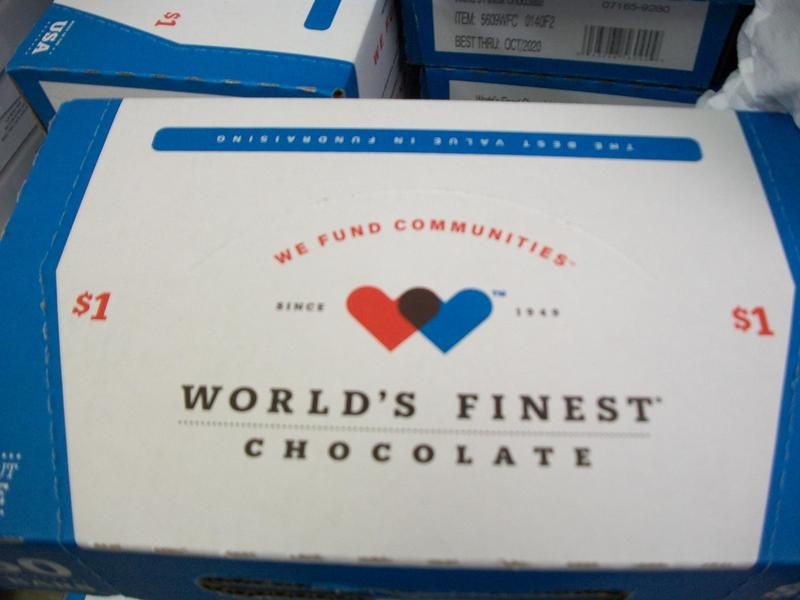 A box of World's Finest Chocolate.