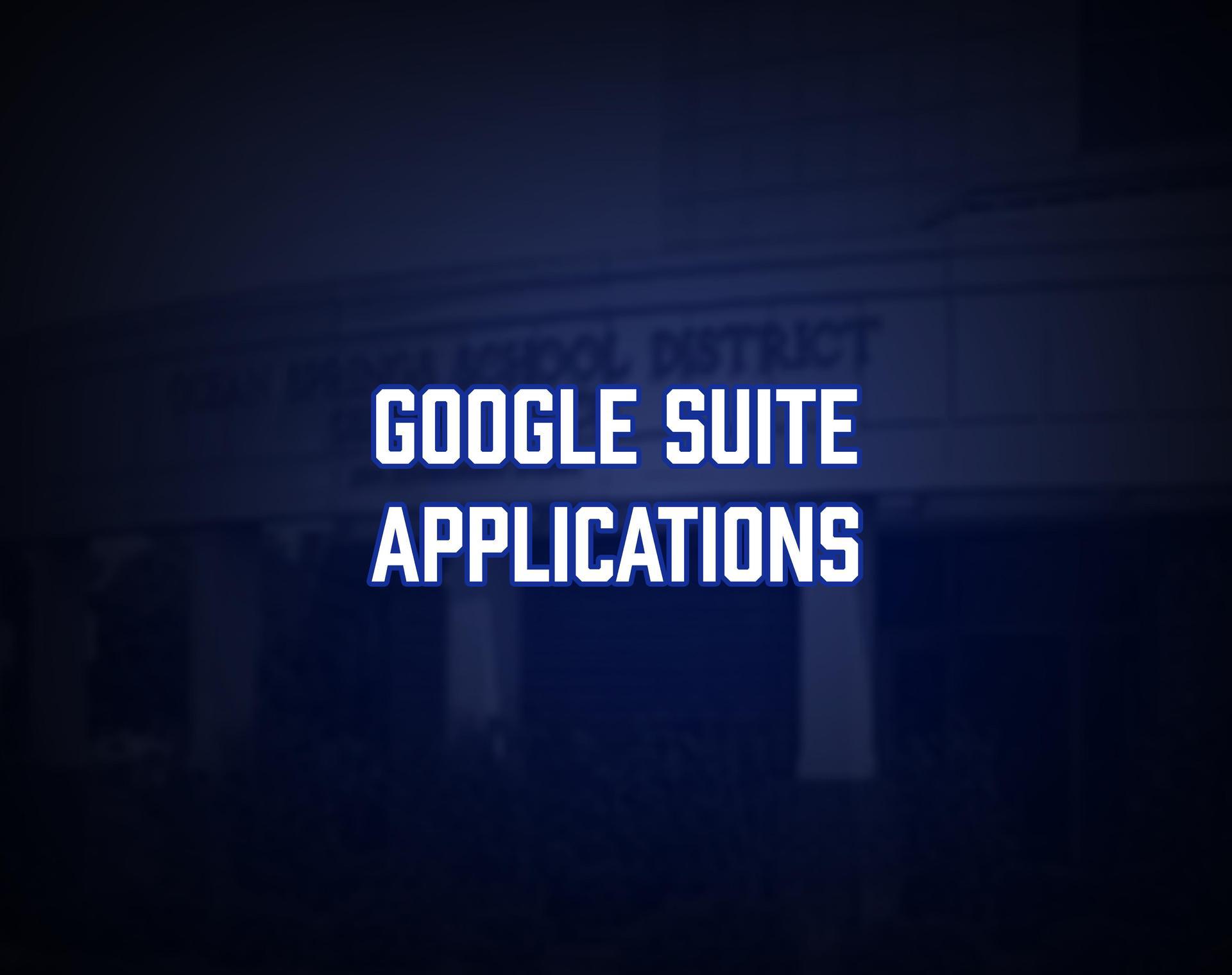 Google Suite Applications