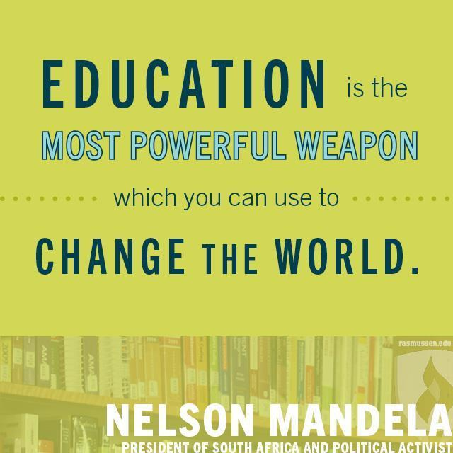 Education as a tool!