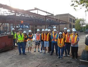 Cañon City High School Vocational Survey students toured the Cañon City Middle School construction site