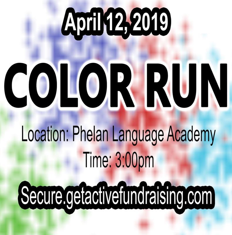 Phelan Color Run logo