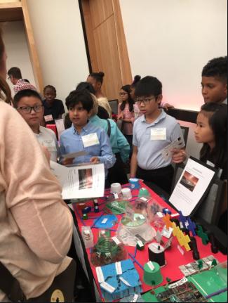 students listening to presentation