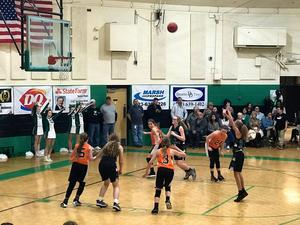 a picture of girls playing basketball
