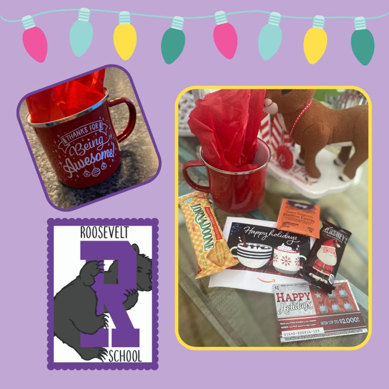 Mug and goodies gift collage