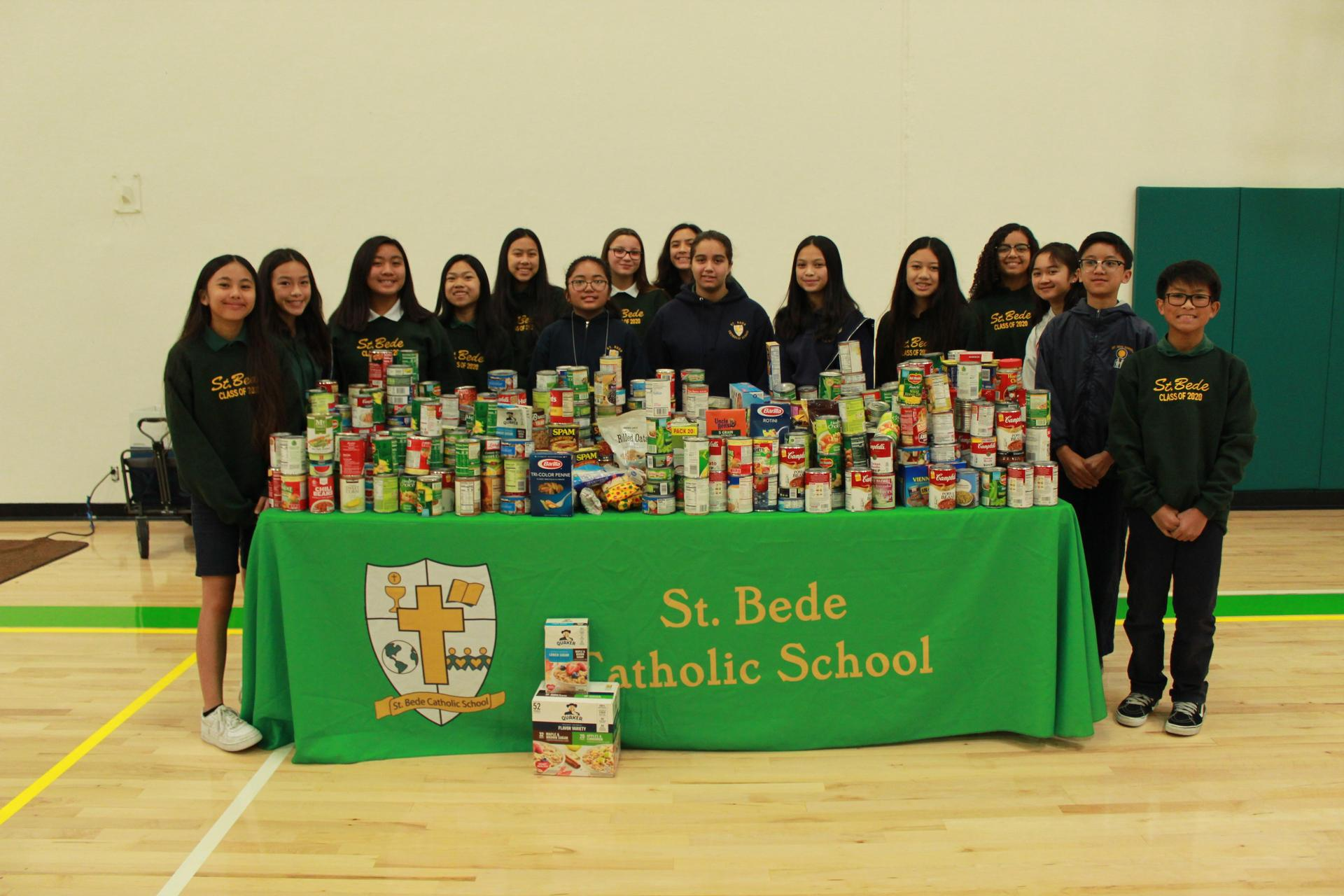 Our Student Leadership team helped collect canned goods for our Thanksgiving food drive.