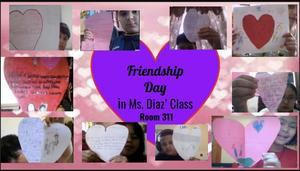 Friendship day hearts collage