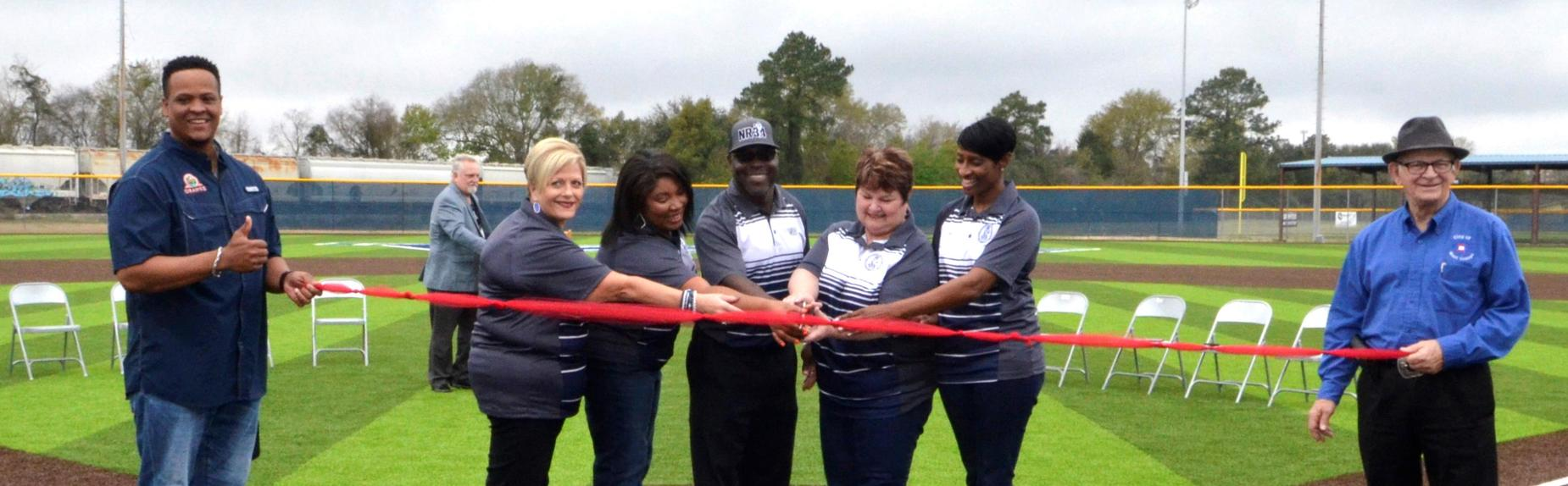 Ribbon Cutting WOS-HS Baseball field