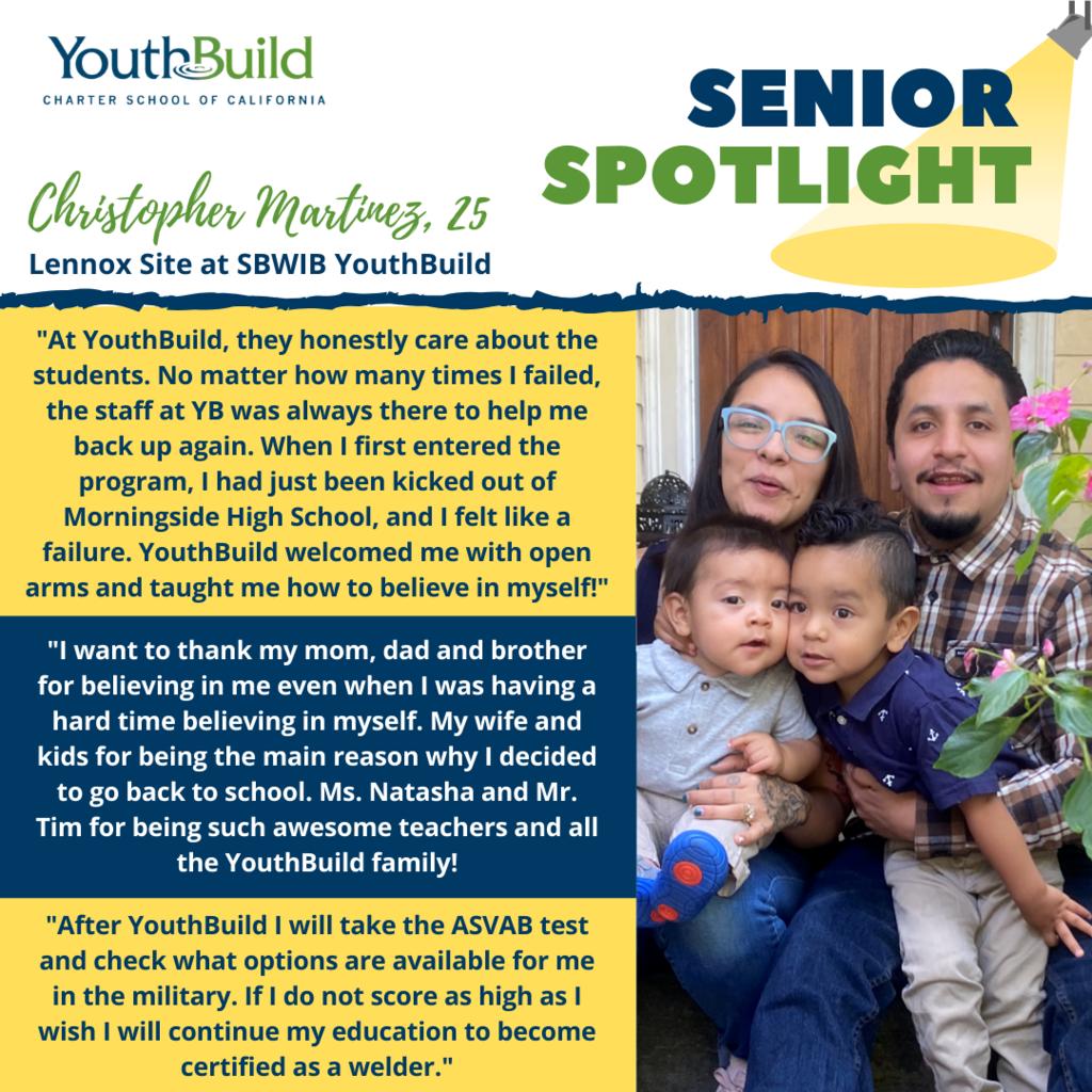 Senior Spotlight for graduate Christopher Martinez