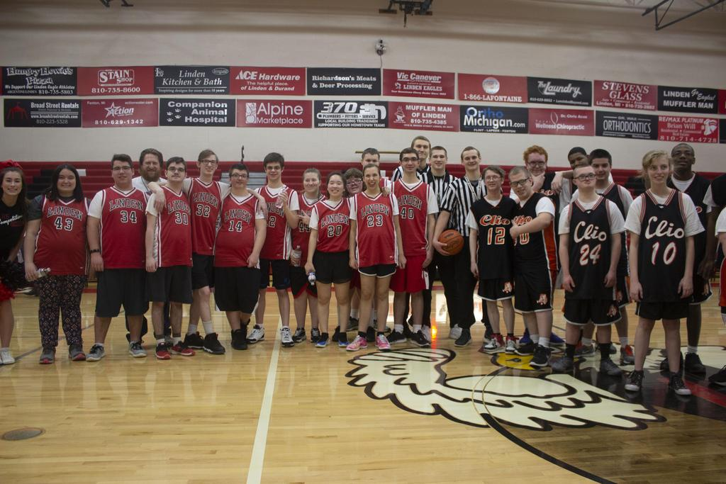 Two basketball teams in a group