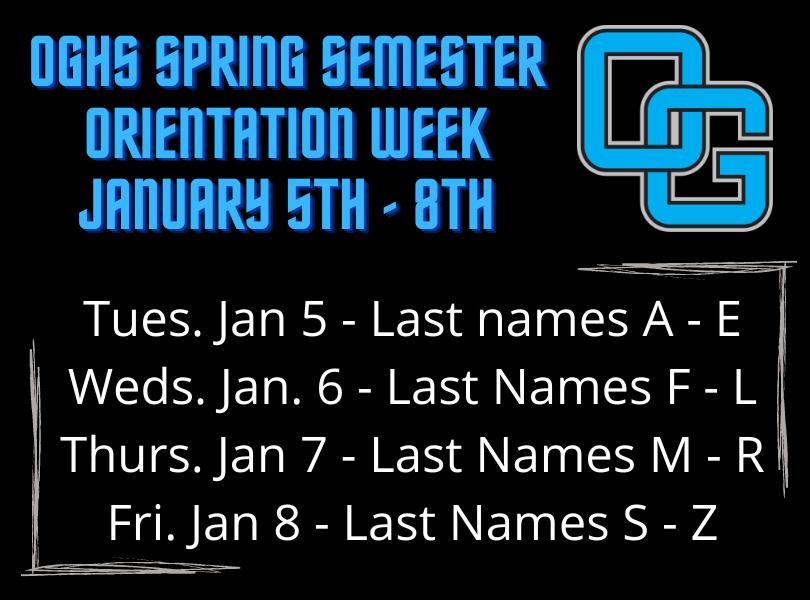 Orientation Week Jan 5-8