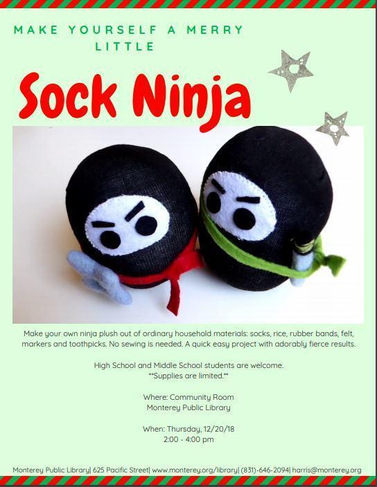 Sock Ninja activity