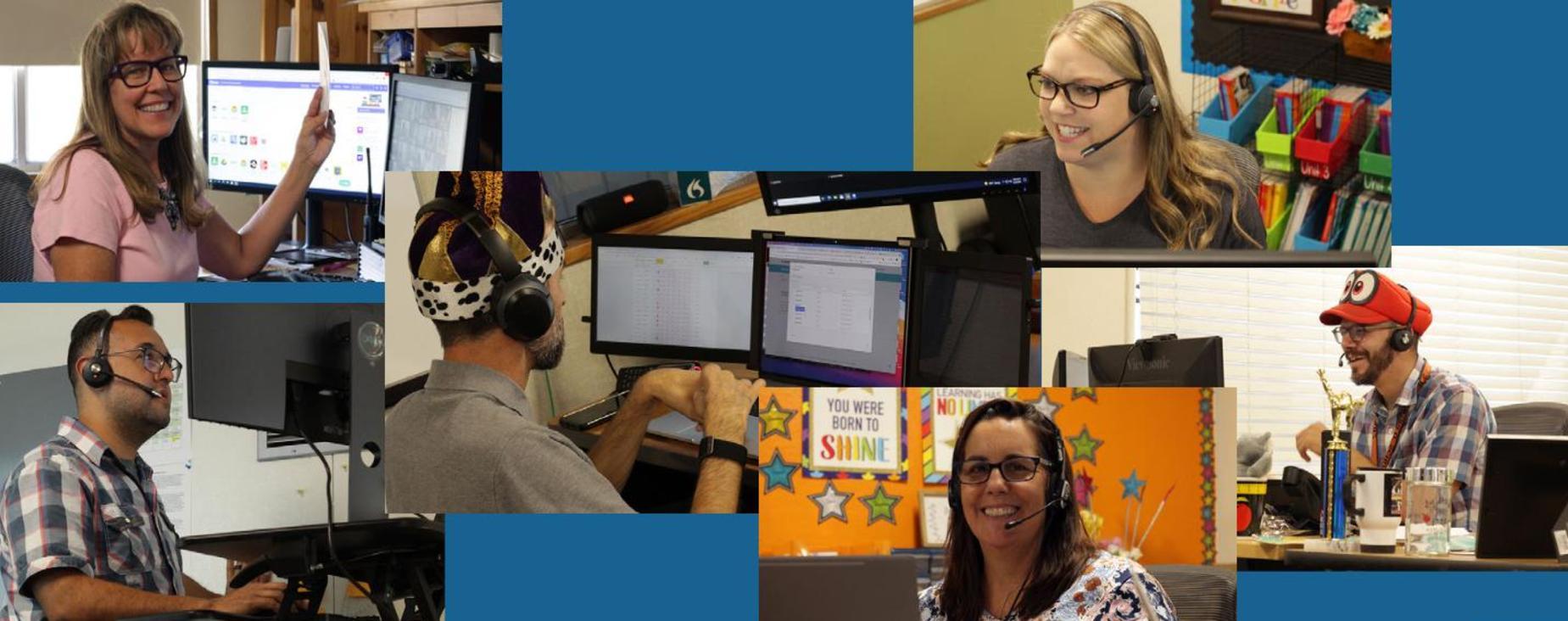 SJTech teachers at their computers