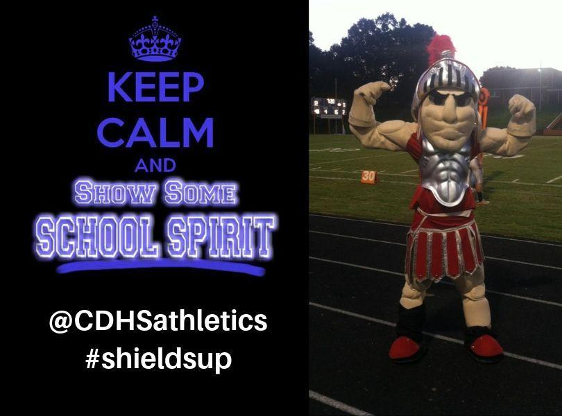 Show your school spirit @CDHSathletics #shieldsup