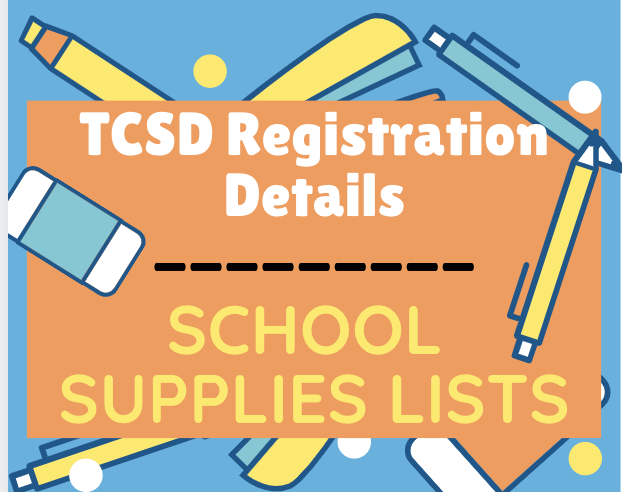TCSD Registration & School Supplies