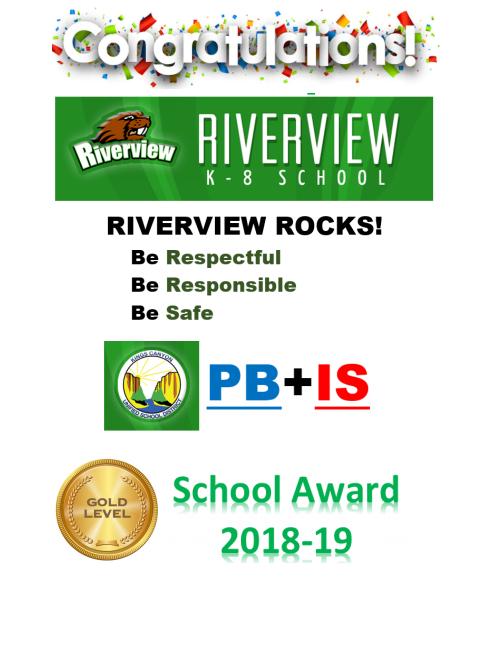 PBIS Gold Award 2018-2019