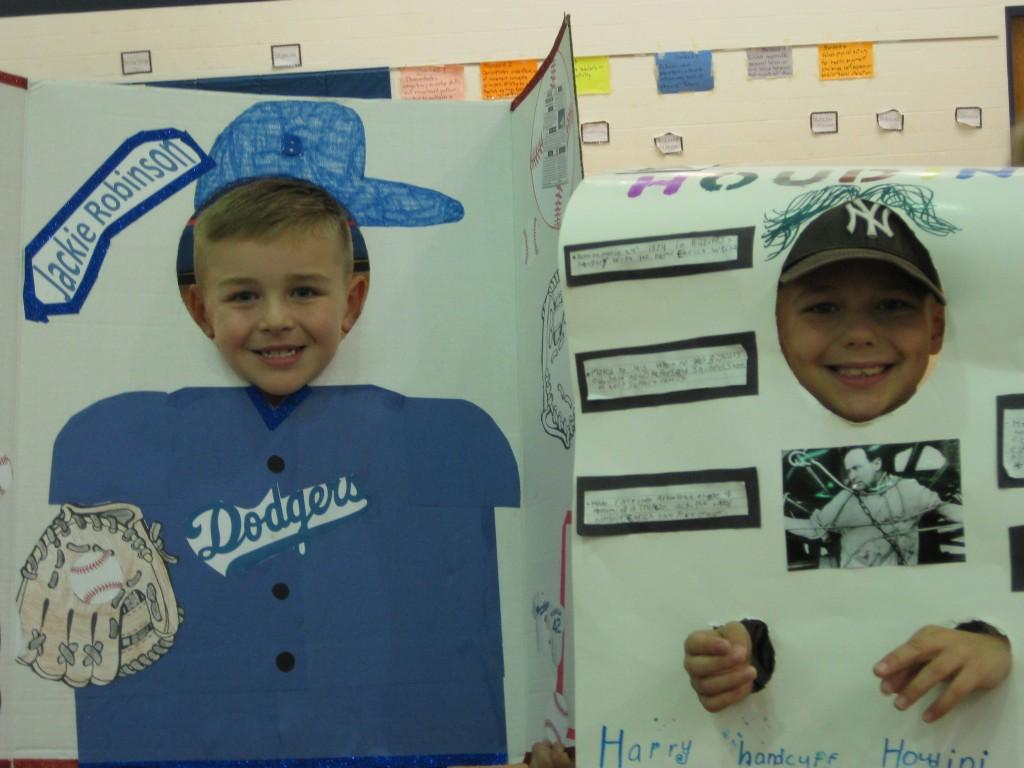 Wax Museum-Jackie Robinson and Harry Houdini
