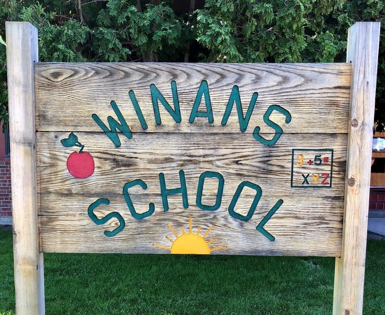 Winans school sign