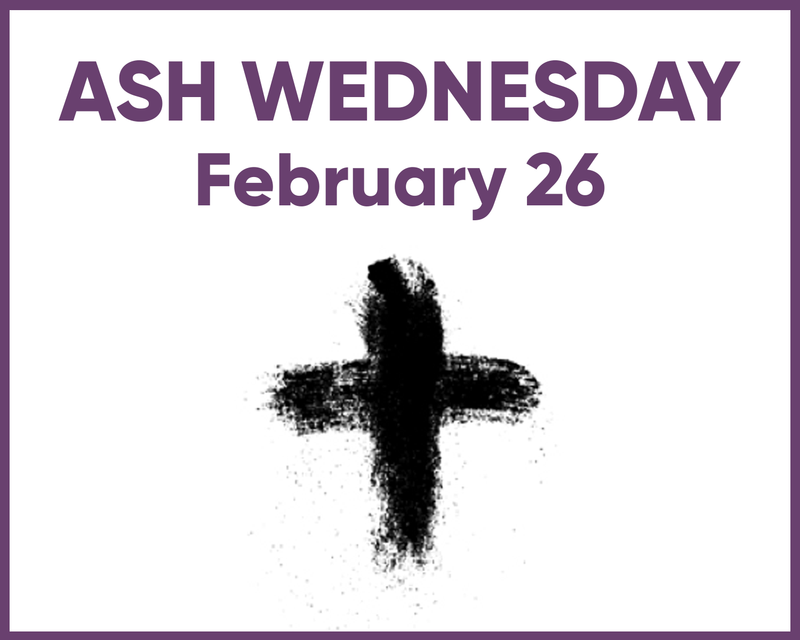 Ash Wednesday Schedule Thumbnail Image