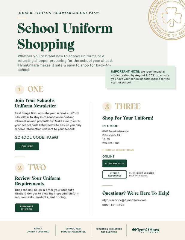 School Uniform Shopping Information Featured Photo