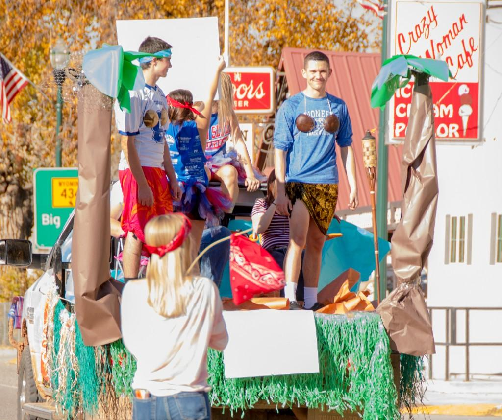 Sophmore float at homecoming