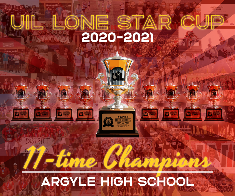 Argyle High School Wins 11th UIL Lone Star Cup Award! Thumbnail Image