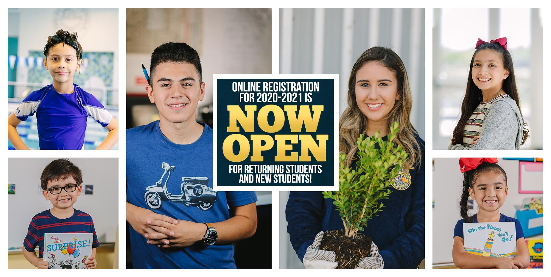 Online Registration Now Open
