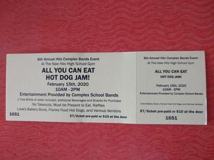 Hot Dog Jam Ticket Sample