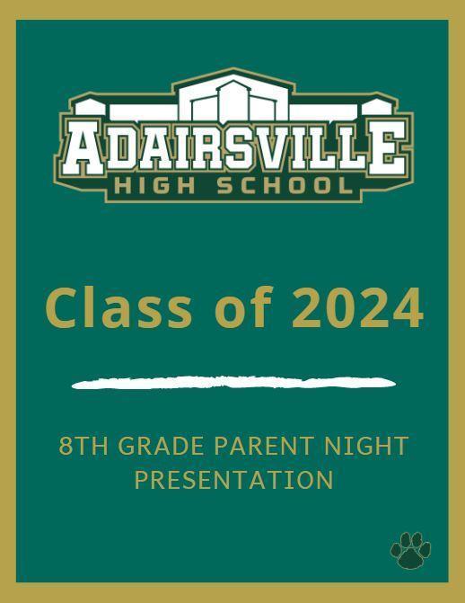 8th Grade Parent Night Presentation Featured Photo