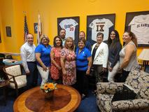 Lake Center representatives visiting a congresswoman in Washington, DC.