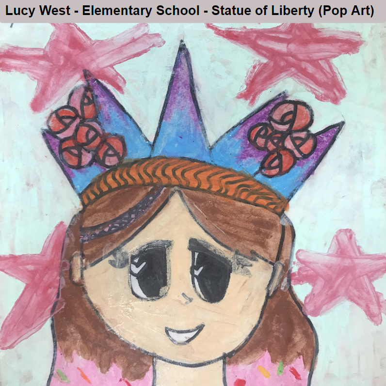 Lucy West - Elementary School - Statue of Liberty (Pop Art)