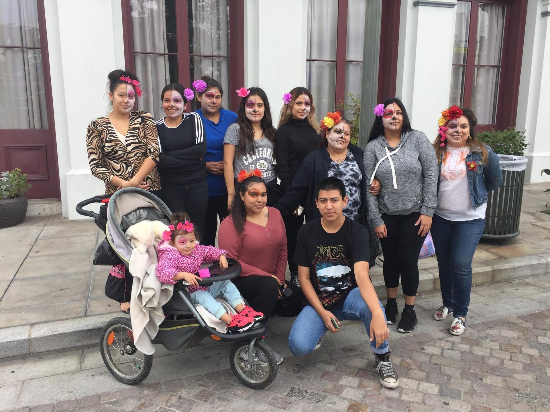 El Monte students dressed up for Dia de los Muertos