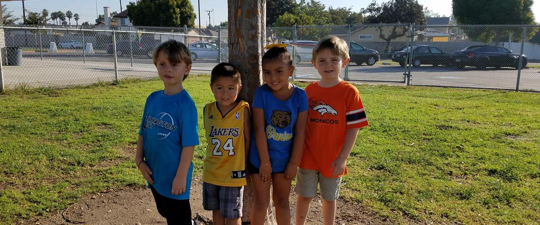 Students with sports apparel