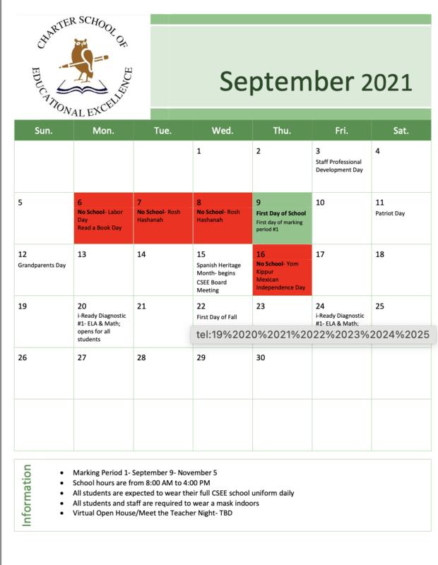 2021 September Calendar Featured Photo