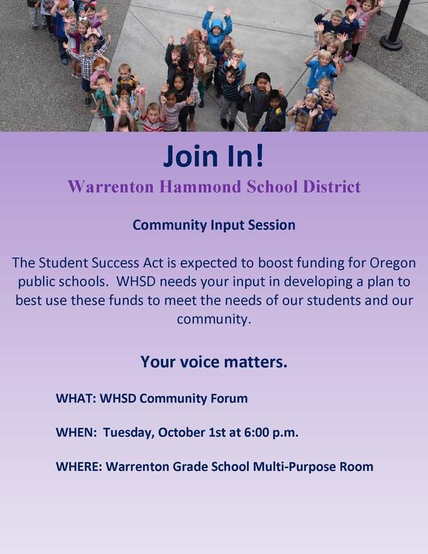 WHSD Community Input Session - October 1st Featured Photo