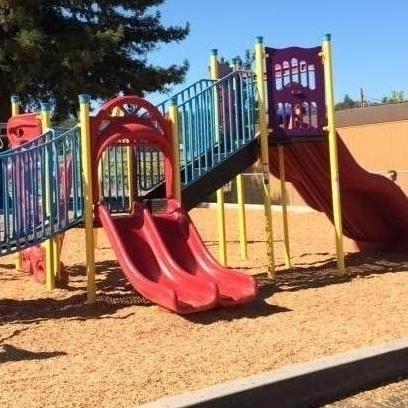 Playground equipment at Calpella