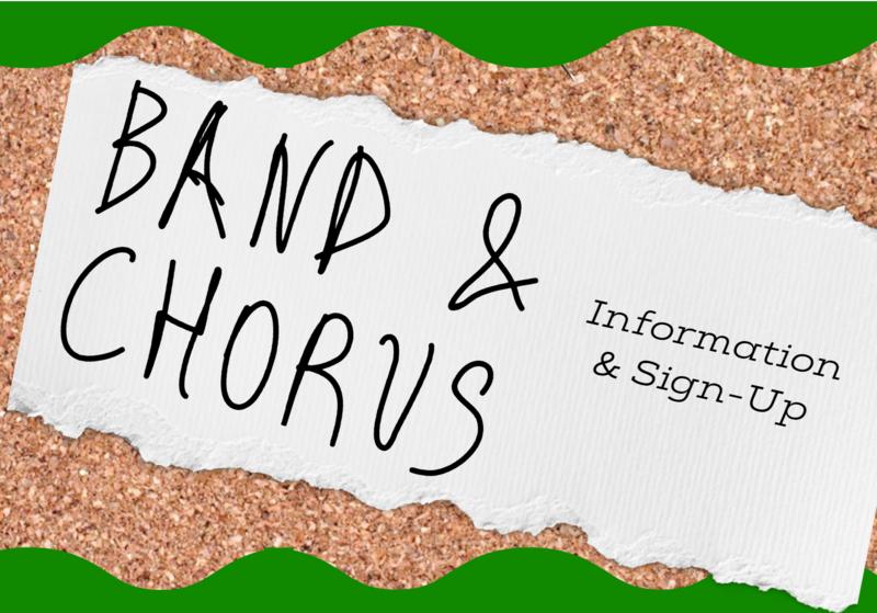 Rising 6th Grade Band and Chorus Sign-ups Featured Photo