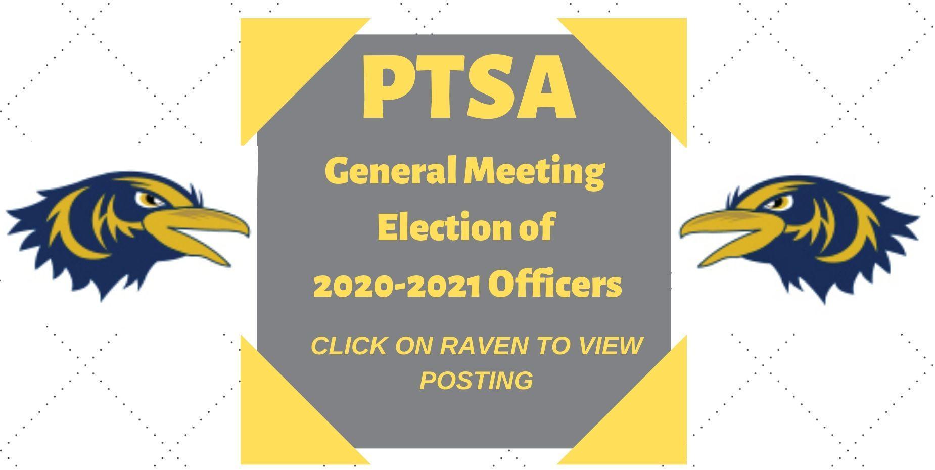 PTSA General Meeting Elections 2020-2021