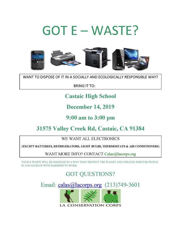 ewaste event information