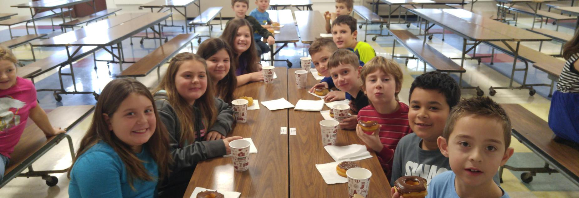 P.R.I.D.E. Shout Out Winners enjoying a special treat.