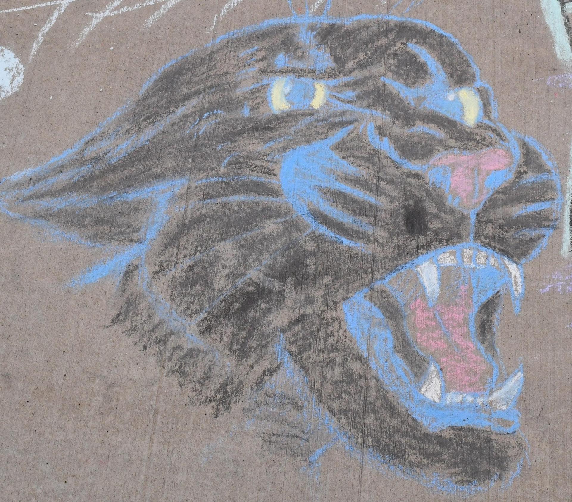 Sidewalk Chalk Panther