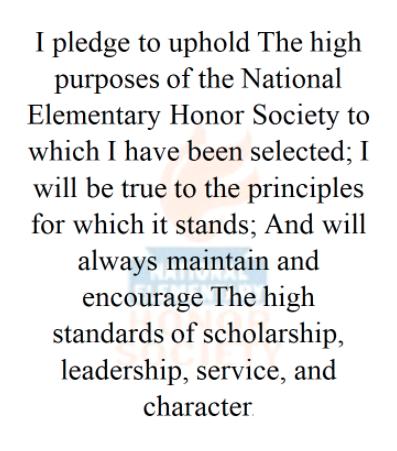 national elementary honor society pledge