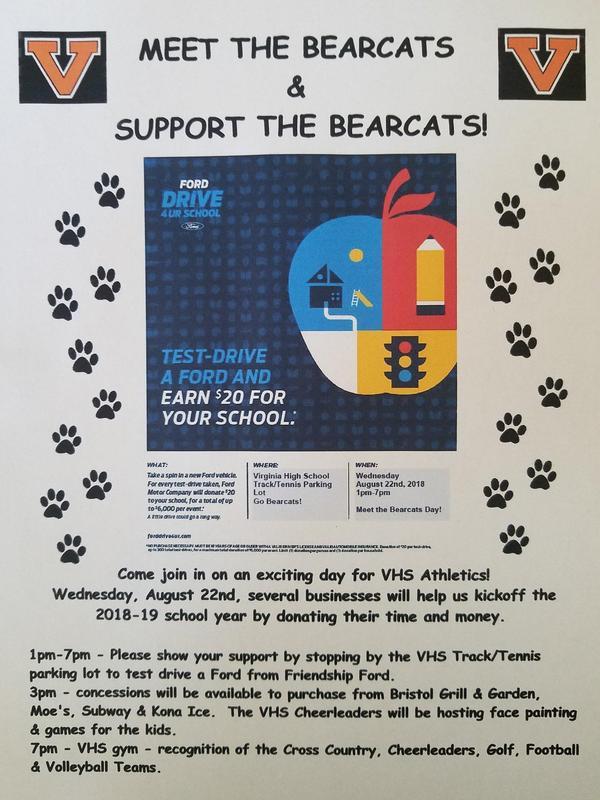 Meet the Bearcats August 22, 1:00 - 7:00 PM