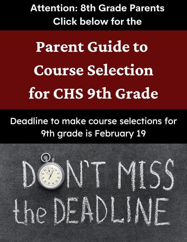 Attention parents of current 8th grade students (in-person and virtual): Featured Photo