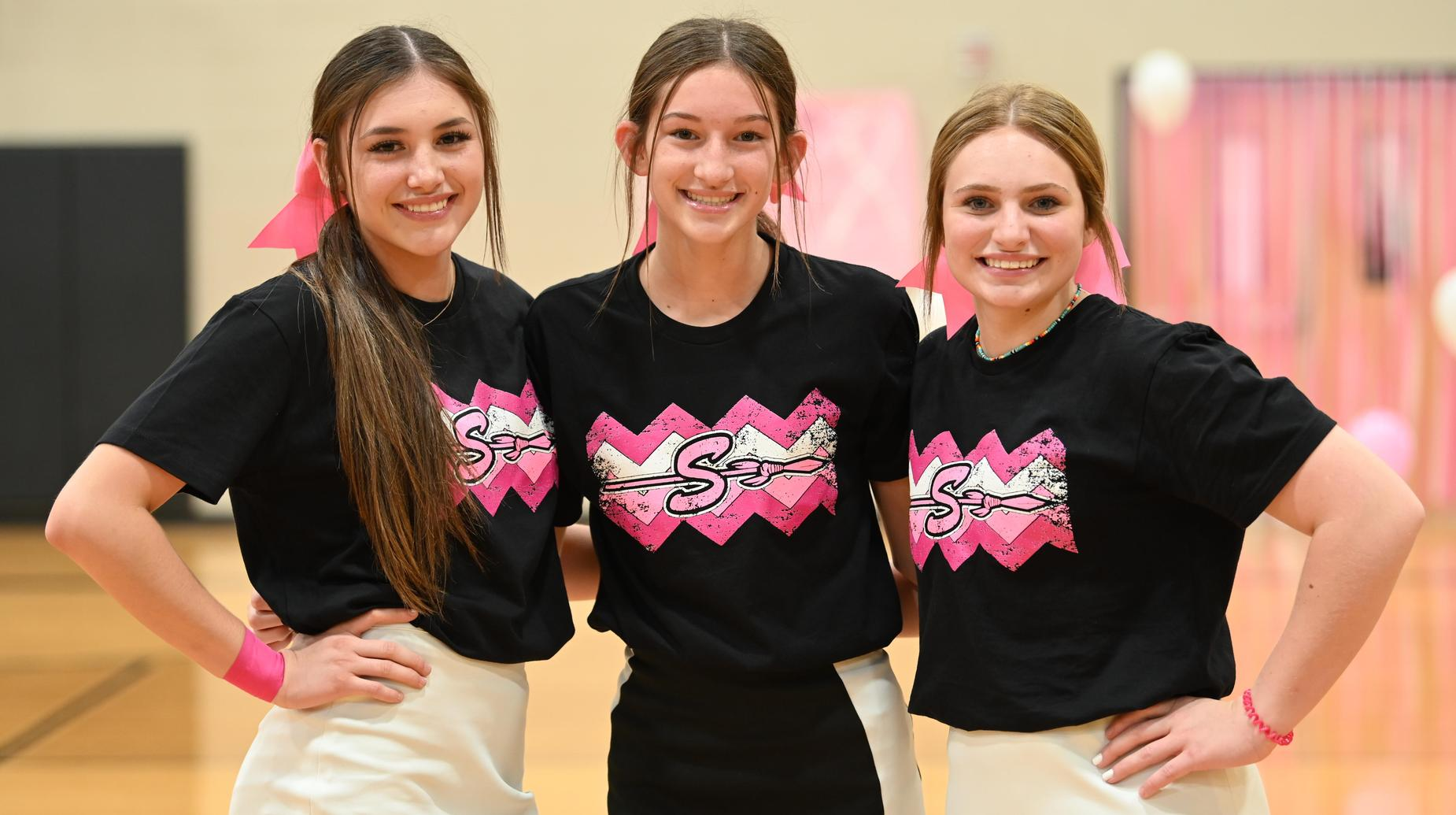 cheerleaders at pink out