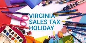 virginia sales tax holiday
