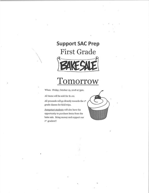 First Grade Bake Sale on 10/19/18 Thumbnail Image
