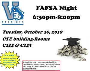 FAFSA Night flyer