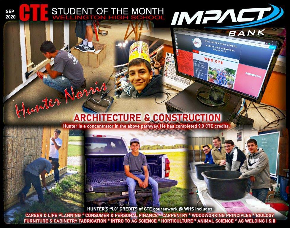 CTE Students of the Month 2020-2021
